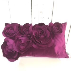 Coussin Floral - Prune
