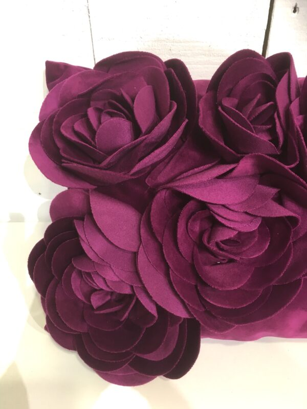 Coussin Floral - Prune Zoom