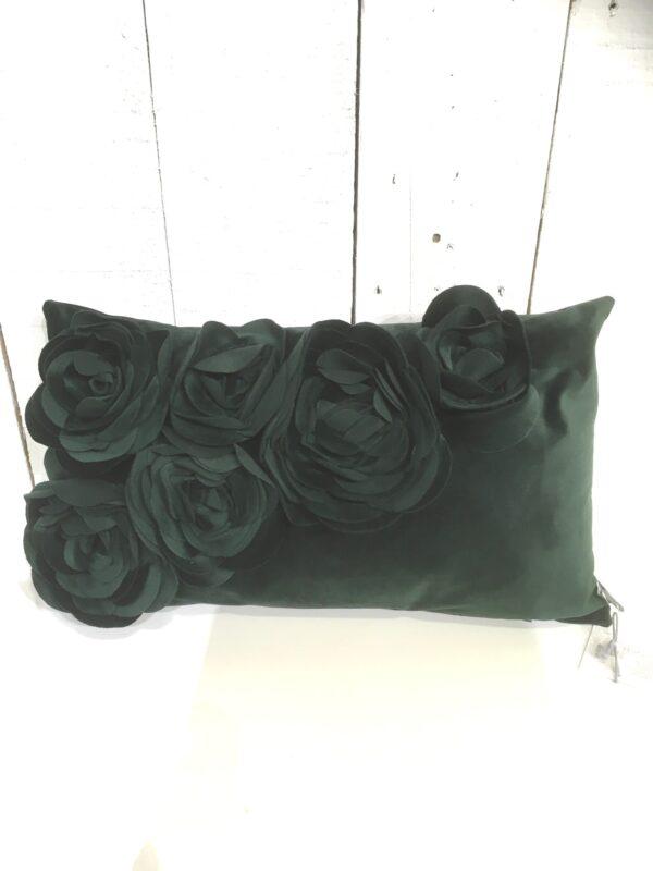 Coussin Floral - Vert foncé